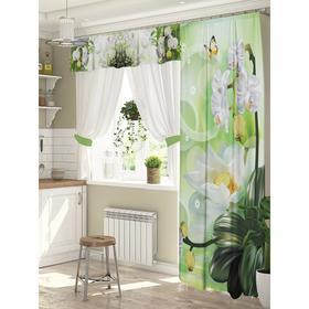 Комплект штор для окон с балконной дверью «Зелень»