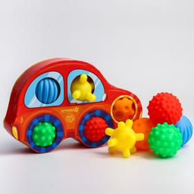 Подарочный набор развивающих, массажных мячиков «Машинка» 5 шт.