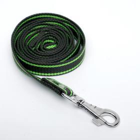 Поводок брезентовый, 1,6 м х 2,5 см, хаки/зелёный