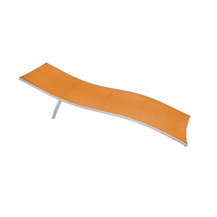 Шезлонг складной, до 100 кг, цвет оранжевый