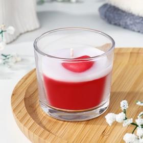 "Свеча ароматическая в стакане ""I love you"", 60 гр"