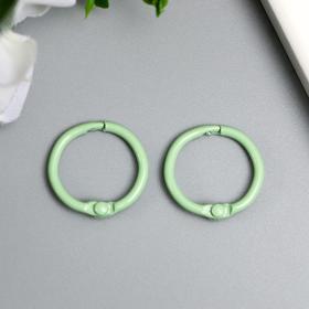 """Кольца для альбомов """"Айрис"""" 2 см, 2 шт, светло-зелёный"""