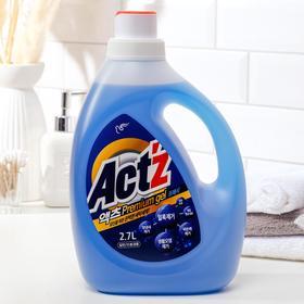 Концентрированный гель,Act'z Premium Gel,для стирки белья, аромат мяты 2,7 л