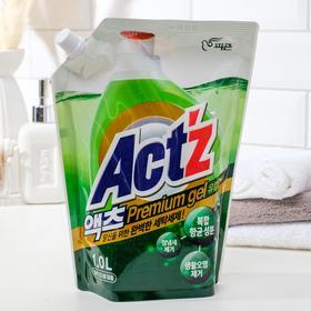 Концентрированный гель, Act'z Premium Gel, для стирки белья аромат Эвкалипта 1 л. 1