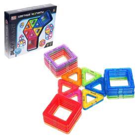 Конструктор магнитный «Цветные магниты», 30 деталей