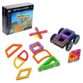 Конструктор магнитный «Цветные магниты», 36 деталей