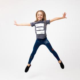 Леггинсы для девочки, цвет тёмно-синий, рост 150-156 см (10-12 лет)