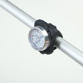 Фонарь велосипедный аккумуляторный 3 Вт, 400 мАч, влагозащищённый, зарядка USB, 3 режима