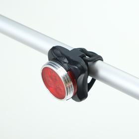 Фонарь велосипедный аккумуляторный 3 Вт, 400 мАч, влагозащищённый, зарядка USB, 4 режима