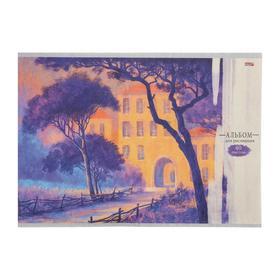 """Альбом для рисования А4, 40 листов на скрепке """"Пурпурные деревья"""", бумажная обложка, блок офсет"""