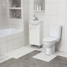 Набор ковриков для ванны и туалета, 2 шт: 50×52, 50×85 см, ПВХ