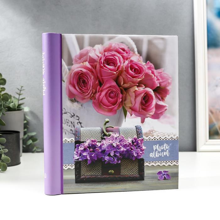 """Фотоальбом магнитный 20 листов """"Розы с сиренью"""" - фото 865842"""