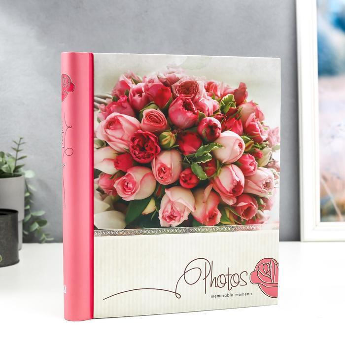 """Фотоальбом магнитный 20 листов """"Розовый букет"""" - фото 865854"""