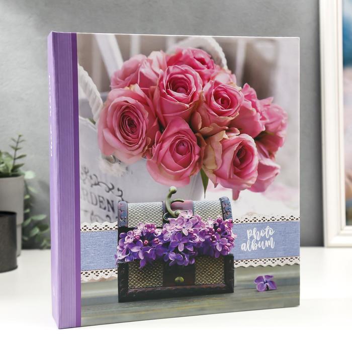 """Фотоальбом магнитный 50 листов """"Розы с сиренью"""" - фото 866086"""