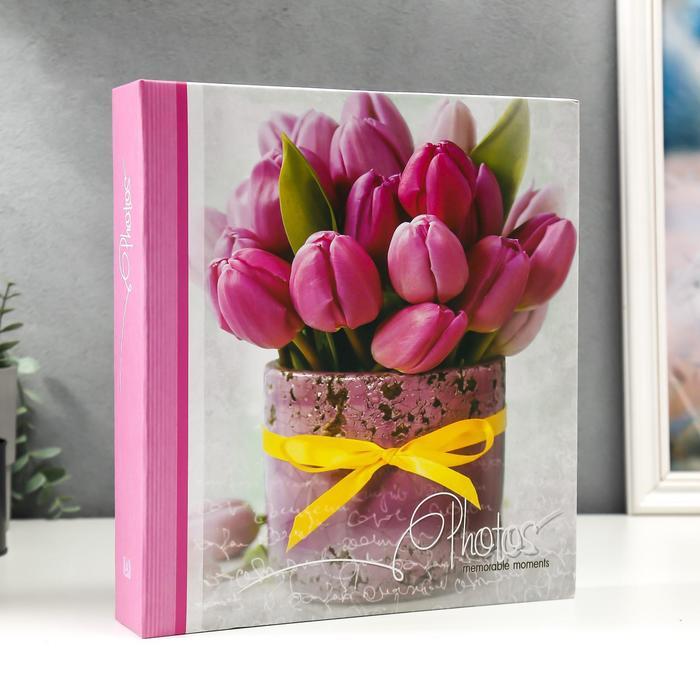 """Фотоальбом магнитный 50 листов """"Тюльпаны"""" - фото 866090"""