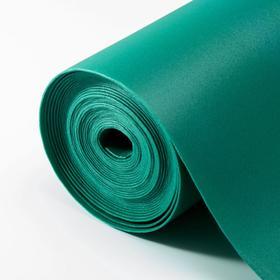 Фоамиран флористический 2 мм, тёмно-зелёный, рулон 1х10 м