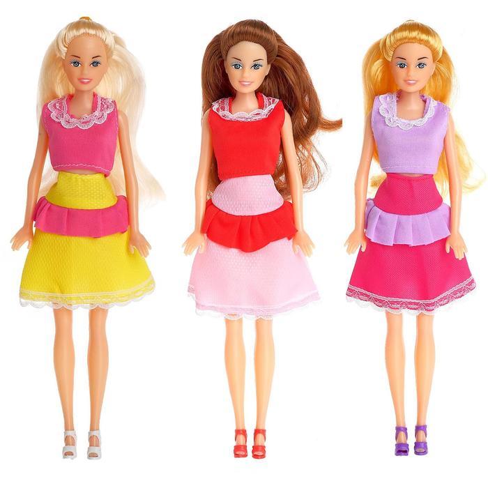 Кукла модель «Синди» в платье, МИКС - фото 106785509