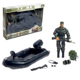 Солдат «Диверсант», с лодкой