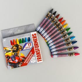 Восковые карандаши Transformers, набор 12 цветов