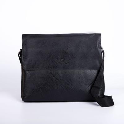 Планшет, отдел на молнии, длинный ремень, наружный карман, цвет чёрный