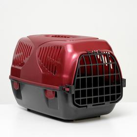 """Переноска для животных """"Сириус"""", 33,5 х 31 х 50 см, красный перламутр"""