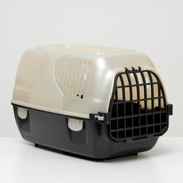 """Переноска для животных """"Сириус"""", 33,5 х 31 х 50 см, бежевый перламутр - фото 200600"""