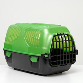 "Переноска для животных ""Сириус"" 33,5 х 31 х 50 см, зеленый перламутр"