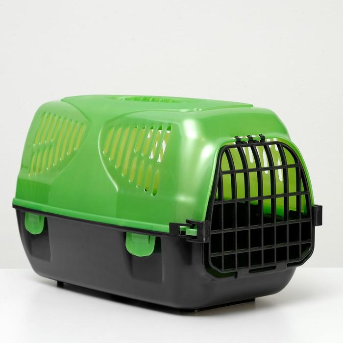 "Переноска для животных ""Сириус"" 33,5 х 31 х 50 см, зеленый перламутр - фото 188887"