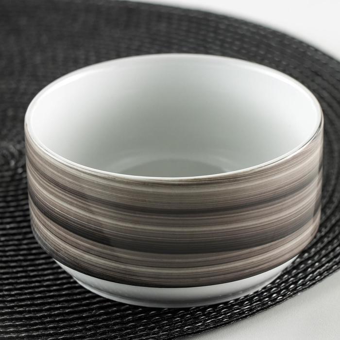 Чашка для бульона без ручек Добрушский фарфоровый завод Infinity, 470 мл, цвет черный - фото 971315