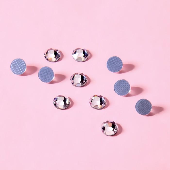 Стразы термоклеевые «Круг», d = 4,6 - 4,8 мм, 100 шт, цвет серебряный