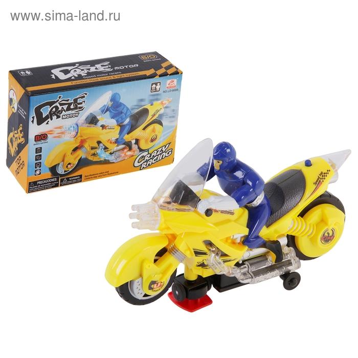 """Мотоцикл """"Гонщик"""", работает от батареек, со световыми и звуковыми эффектами"""