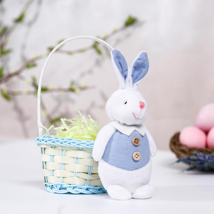 Мягкая игрушка «Счастливой Пасхи!» зайка - фото 106425719