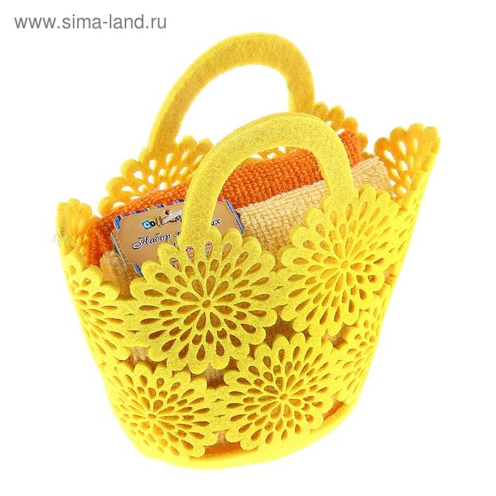 Набор полотенец Yellow-orange 30*30 см - 2 шт