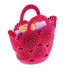 Набор полотенец в корзинке Collorista Violet, (2 шт.), 100% хлопок, 30 х 30 см, 340 гр/м2
