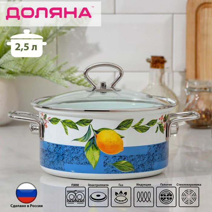 Кастрюля Доляна «Лимоны», 2,5 л