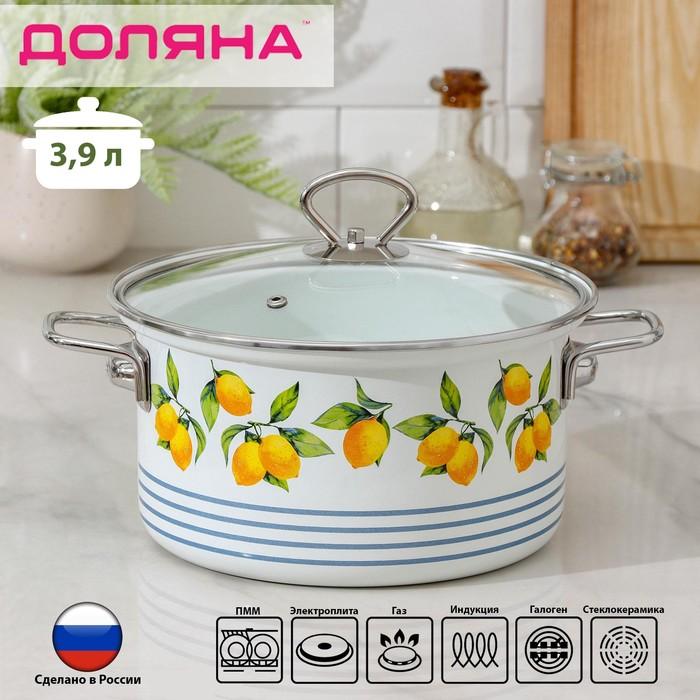 Кастрюля Доляна «Лимоны», 3,9 л - фото 971682