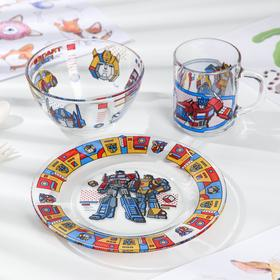 Набор посуды детский Priority «Трансформеры», 3 предмета