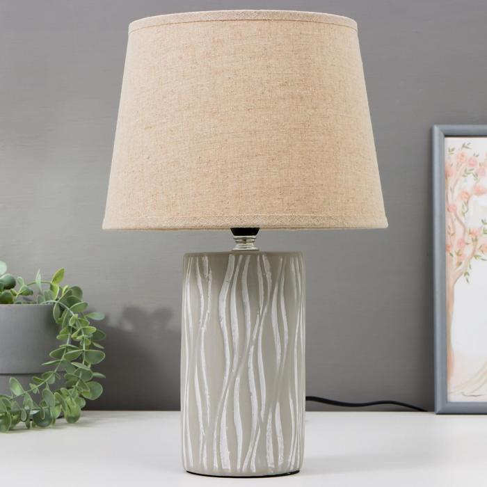 Лампа настольная 16356/1 E14 40Вт серый 22х22х36 см - фото 580047