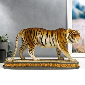 "Сувенир полистоун ""Бенгальский тигр на скале"" 23,5х43х11,5 см"