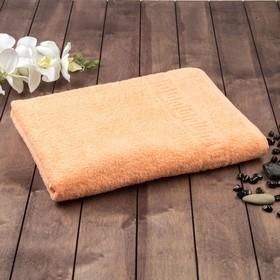 Полотенце махровое однотонное Антей цв персиковый 50*90см 100% хлопок 430 гр/м2 Ош