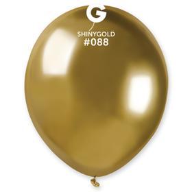 """Шар латексный 5"""", хром Shiny, водные бомбочки, золото, набор 100 шт."""