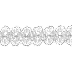 Тесьма гипюровая белая 1,5 см в бабине 548 метров