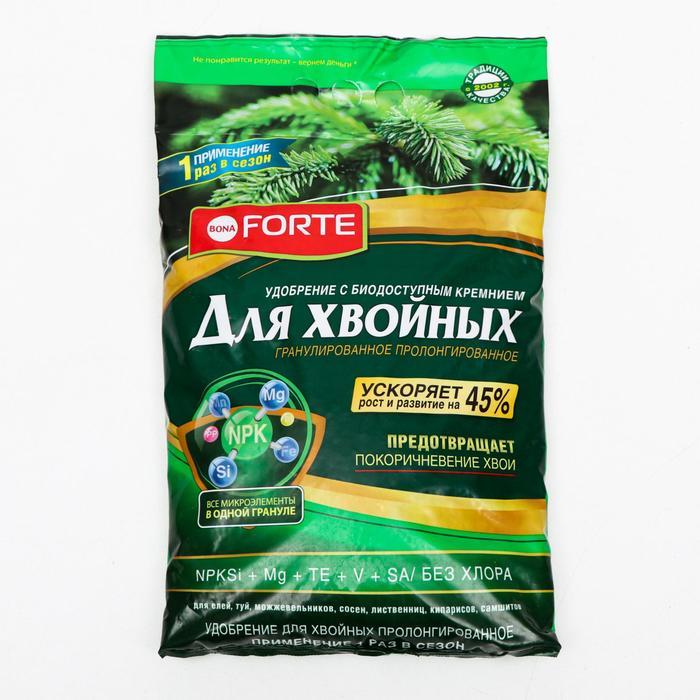 Удобрение Бона Форте  весна-лето для Хвойных с кремнием, 5 кг - фото 282127082