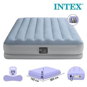 """Кровать надувная """"Raised Comfort""""  152 х 203 х 36 см, встр.нас 220В, до 272 кг 64168NP   53836"""