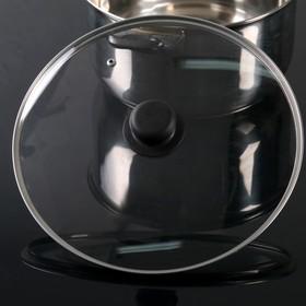 Крышка стеклянная с пластиковой ручкой, d=28 см
