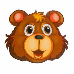 Термонаклейка Медведь 16*14,5 см  набор 9 штук