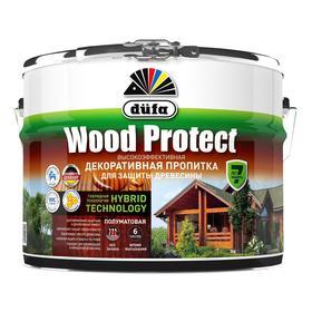 Пропитка düfa для защиты древесины WOOD PROTECT, махагон, полуматовая, 10л
