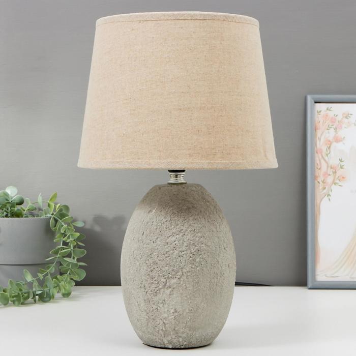 Лампа настольная 16364/1 E14 40Вт серый 22х22х36 см - фото 580304