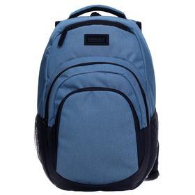 Рюкзак молодежный, Grizzly RQ-003, 48x33x21 см, эргономичная спинка, отделение для ноутбука, джинсовый