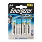 Батарейка алкалиновая Energizer Maximum, АА, LR6-4BL, блистер, 4 шт.